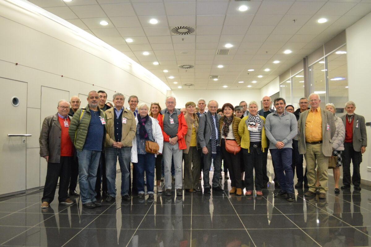 L'intergroupe des Centraliens et Supélec lors de la visite d'IBM Montpellier